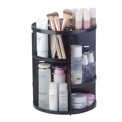 Staulino Rotating Makeup Organizer Black The Rotating Makeup Organizer