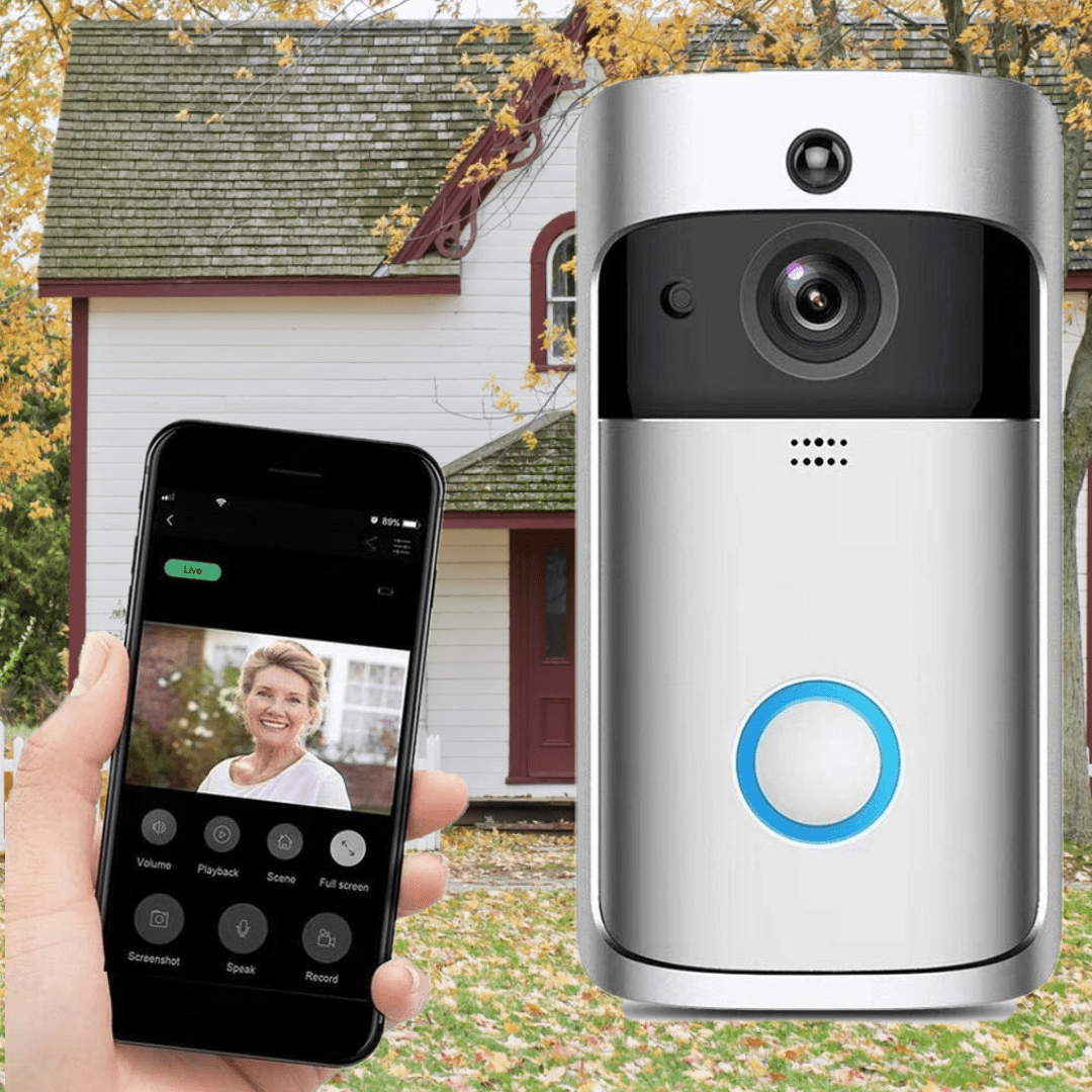 Wireless Video Doorbell Camera Wi Fi Security Hd