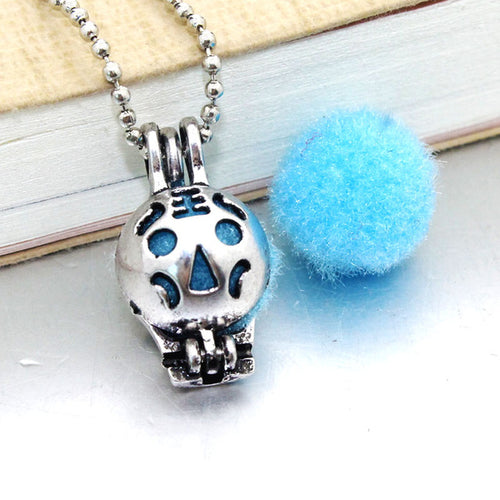 1PCS Cat Beads Pearl Cage Pendant Essential Aroma