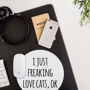 Mouse Pad Love Cats Mousepad Art Mouse Mat