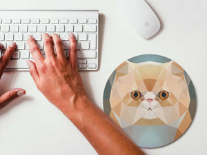 Mouse Pad Geometric Persian Cat Mousepad Art Mouse