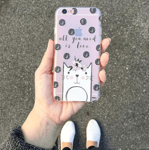 Cat Love - Clear TPU Case Cover