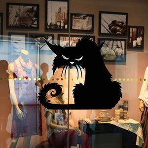 Halloween Black Cat Wall Sticker PVC Removable