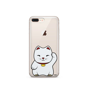 Maneki Neko (Lucky Cat) - Clear TPU Case Cover