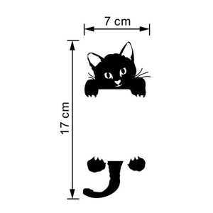 New Cat Wall Stickers Light Switch Decor Decals