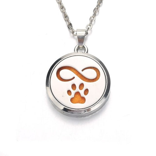 Silver cute Cat Aroma Diffuser Necklace Perfume