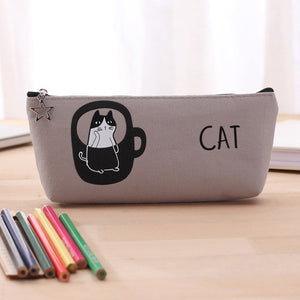 Stationery Cartoon Cats Pencil Case School Pencil