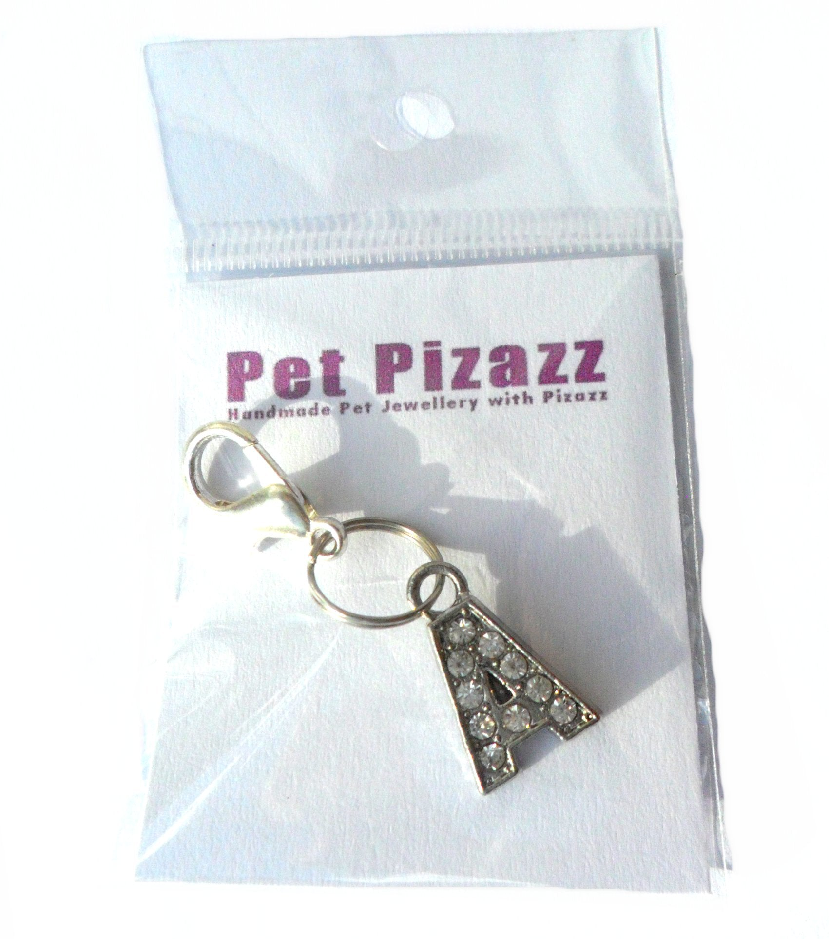 A-Z Crystal Cat Pet Collar Letter Charms