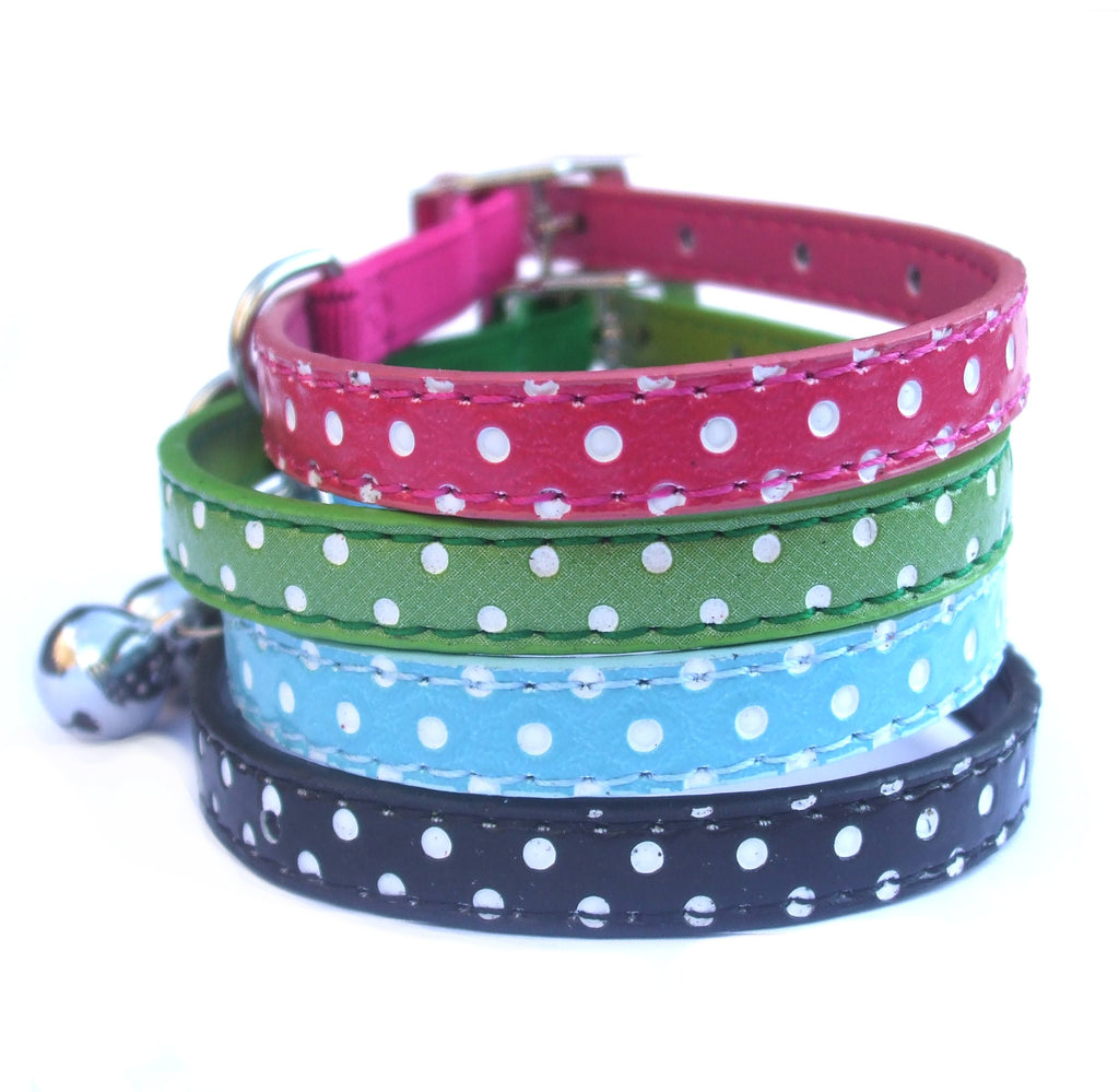 Polka Dot Dottie Safety Cat Kitten Collars