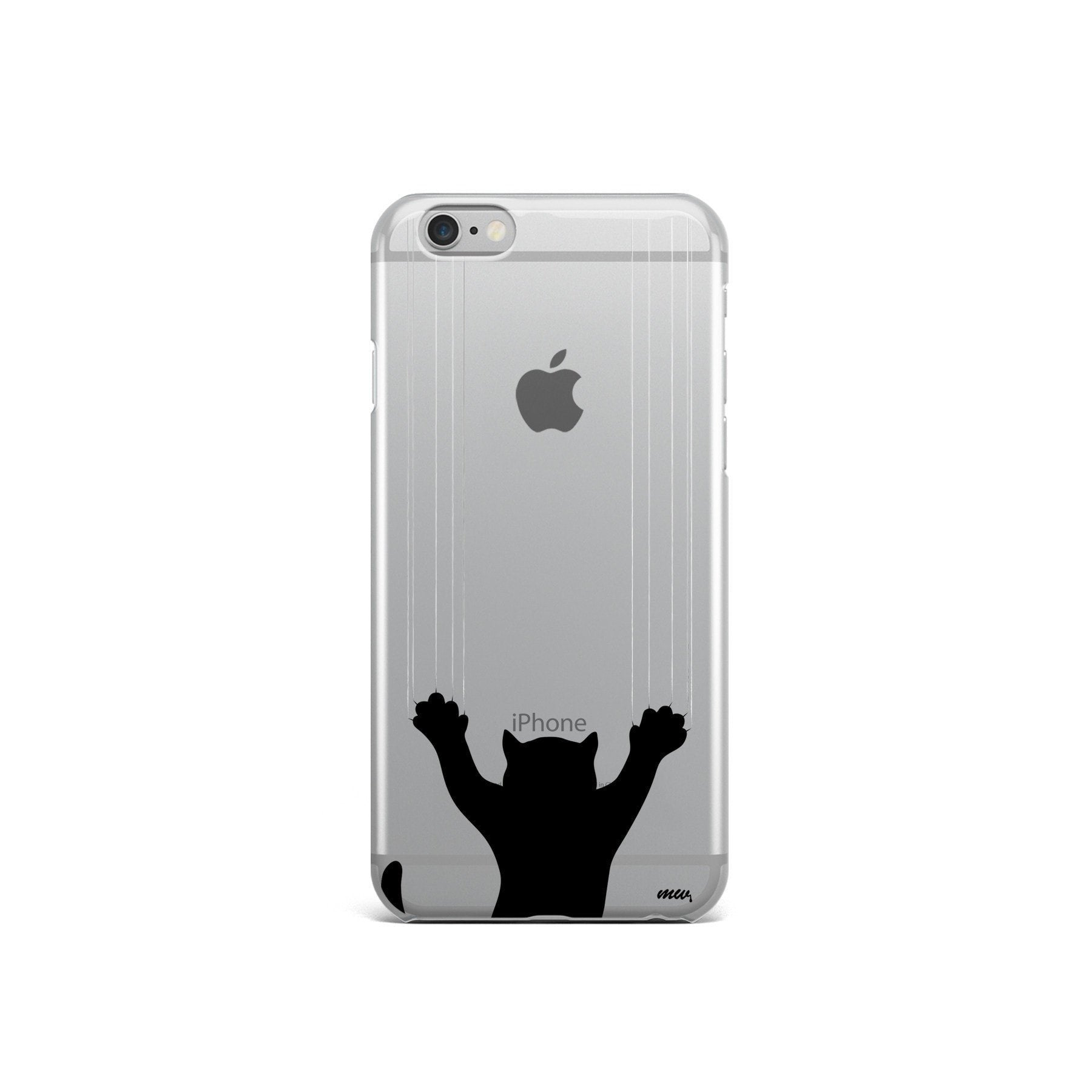 Scratchy Cat - Clear Case Cover