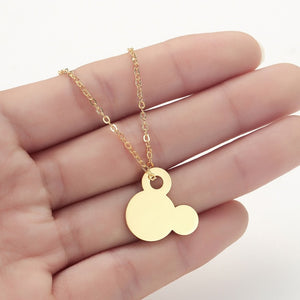 Stainless Steel Women's Necklace Simple Love Cat Moon