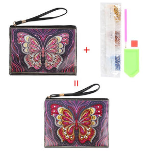 DIY Special Shaped Diamond Painting Wristlet Wallet Women Clutch Bag