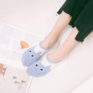 Cute harajuku print cat socks women summer korean animal
