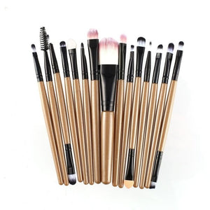 Lote 15 pcs MakeUp Multifuncion Pinceles de Maquillage - Secretos Belleza