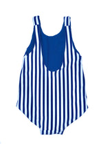 Girl's Amelia Reversible One Piece - Navy Stripe