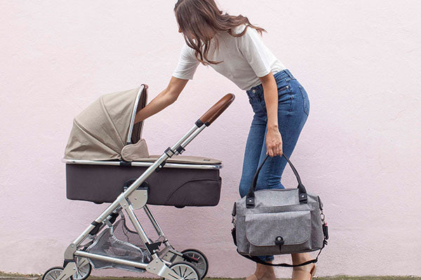 Babymel Changing Bag | Grey Changing Bag | How to Clean Your Changing Bag