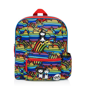 Zip and Zoe by Babymel Kid's backpack age 3+ rainbow multi, front view | school bags for boys | boys backpack | school bags for girls | backpacks for girls | kids school bags | kids backpacks