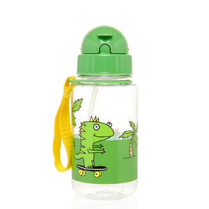 Zip and Zoe by Babymel drinking bottle with straw dylan dino palm | dinosaur | water bottle | BPA free bottle | kids water bottle