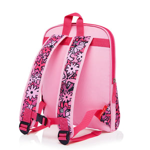 Zip and Zoe by Babymel Kid's backpack age 3+ floral pink, back view | school bags for girls | backpacks for girls | kids school bags | kids backpacks
