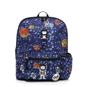 Zip and Zoe by Babymel Kid's backpack age 3+ spaceman, front view | school bags for boys | boys backpack | school bags for girls | backpacks for girls | kids school bags | kids backpacks