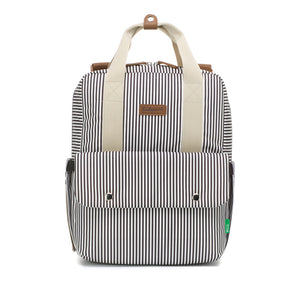Georgi eco Convertible Backpack Navy Stripe