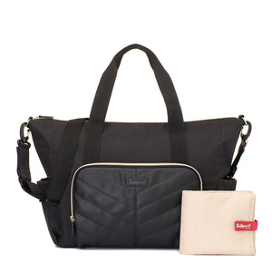 BABYMEL AMBER BLACK | CHANGING BAG | COMES WITH CHANGING MAT