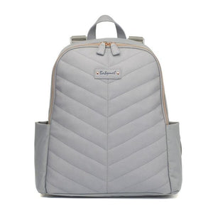Gabby Vegan Leather Backpack Pale Grey