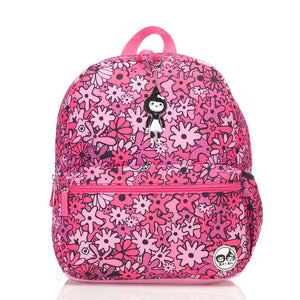 Zip and Zoe by Babymel Junior backpack floral pink, front view | school bags for girls | backpacks for girls | kids school bags | kids backpacks