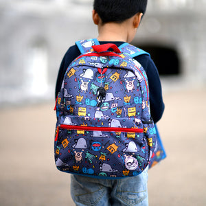 Zip and Zoe by Babymel Junior backpack monster, boy wearing backpack | school bags for boys | boys backpack | school bags for girls | backpacks for girls | kids school bags | kids backpacks