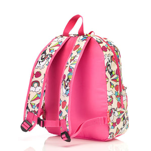 Zip and Zoe by Babymel Junior backpack unicorn, back view | unicorn backpack | school bags for girls | backpacks for girls | kids school bags | kids backpacks