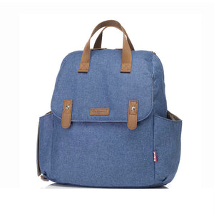Babymel convertible changing bag , Robyn Mid blue, front view, backpack changing bag, rucksack bag baby bag