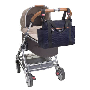 Babymel changing bag Cara ultra-lite navy scuba emboss, changing bag attached to the pram, neoprene changing bag, handbag, shoulder bag.