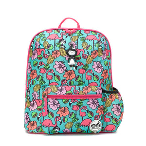 Zip and Zoe by Babymel Kid's backpack age 3+ flamingo, front view | school bags for girls | backpacks for girls | kids school bags | kids backpacks