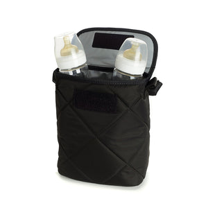 Foldable Double Bottle Holder Black