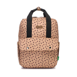 Georgi eco Convertible Backpack Caramel Leopard