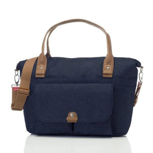 Babymel changing bag, Jade navy, front view, navy melange, handbag baby bag