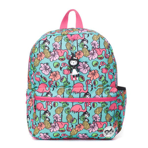 Zip and Zoe by Babymel Junior backpack Flamingo, front view | school bags for girls | backpacks for girls | kids school bags | kids backpacks