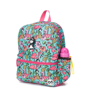 Zip and Zoe by Babymel Junior backpack Flamingo, front side view | school bags for girls | backpacks for girls | kids school bags | kids backpacks