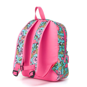 Zip and Zoe by Babymel Junior backpack Flamingo, back view | school bags for girls | backpacks for girls | kids school bags | kids backpacks