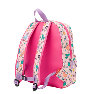 Zip and Zoe by Babymel Junior backpack llama, back view | school bags for girls | backpacks for girls | kids school bags | kids backpacks