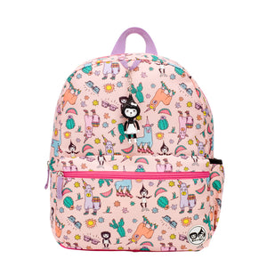 Zip and Zoe by Babymel Junior backpack llama, front view | school bags for girls | backpacks for girls | kids school bags | kids backpacks