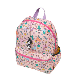 Zip and Zoe by Babymel Junior backpack llama, front side view | school bags for girls | backpacks for girls | kids school bags | kids backpacks