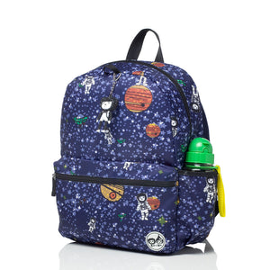 Zip and Zoe by Babymel Junior backpack spaceman, front side view | school bags for boys | boys backpack | school bags for girls | backpacks for girls | kids school bags | kids backpacks