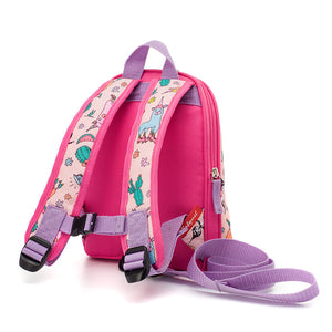 Zip and Zoe by Babymel mini backpack & safety harness-reins llama, back view | toddler backpack with reins | toddler rucksack | backpacks for girls | kids school bags | kids backpacks