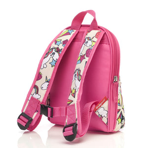 Zip and Zoe by Babymel mini backpack & safety harness-reins unicorn, back view | toddler backpack with reins | toddler rucksack | backpacks for girls | kids school bags | kids backpacks