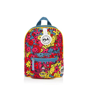 Zip and Zoe by Babymel mini backpack & safety harness-reins floral brights, front view | toddler backpack with reins | toddler rucksack | backpacks for girls | kids school bags | kids backpacks