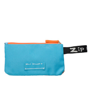 Zip and Zoe by Babymel pencil case robot blue, back view | pencil case | school pencil case | pencil case for boys | pencil case for girls
