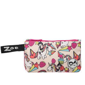 Zip and Zoe by Babymel pencil case unicorn, front view | pencil case | school pencil case | pencil case for boys | pencil case for girls