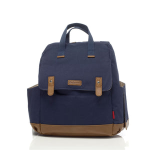 Babymel convertible changing bag , Robyn navy, front view, unisex backpack changing bag, rucksack bag baby bag