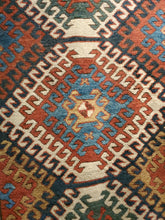 Load image into Gallery viewer, Kazak Rug Circa 1880s Antique Rug Runner